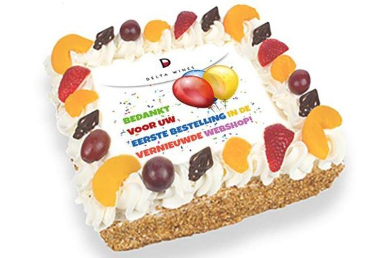 Gratis taart bij uw online bestelling!
