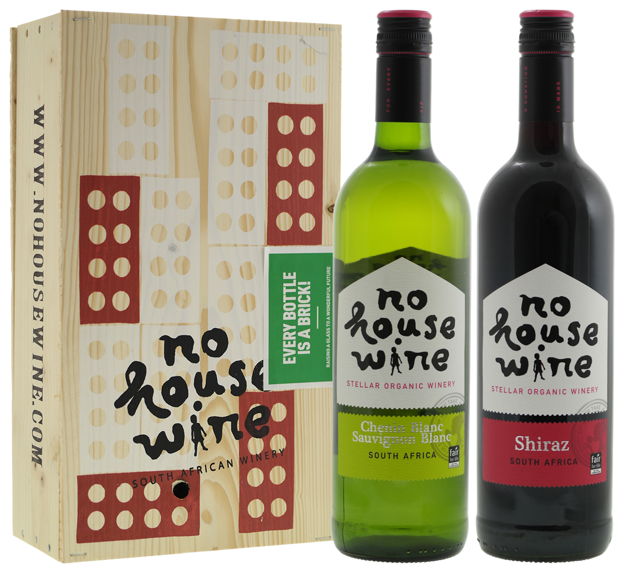 Afbeelding van BIO No House Wine bordeauxkist 2-vaks