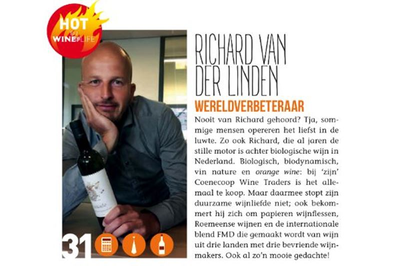 Richard van der Linden in de Winelife Hotlist 2018