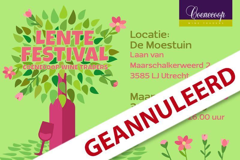 Lente Festival geannuleerd